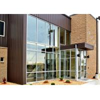China Single Slope Tapered Commercial Steel Frame Buildings With Large Glass Curtain Wall wholesale