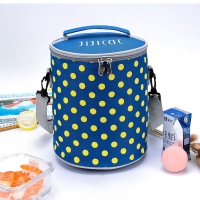 China Barrel Shape Polyester Insulated Tote Lunch Bag wholesale