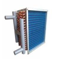 China R134A Sandblasting Finned Type Heat Exchanger Copper Louvered wholesale