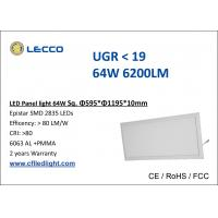 China 64W Led Suspended Ceiling Lights , Warm White Led Panel Light 600 x 1200 For Home on sale