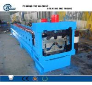 China PLC Hydraulic Automatic Galvanized Rolling Form Line / Metal Ridge Cap Forming Equipment wholesale