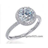 China 925 silver rings jewelry, center stone small rings wholesale