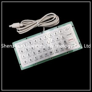 China Outdoor Embedded Numeric Keypad Ip65 40 Keys Type For Kiosk / Elevator / Atm on sale