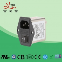 China Surface Mount 0.8mA 60dB 2250VDC Ac Inlet Filter on sale