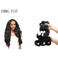 China Three Brazilian Body Wave Unprocessed Hair / No Shedding Unprocessed Curly Human Hair wholesale