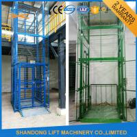 China 1.5 ton 7.5m Guide Rail Electric Hydraulic Warehouse Elevator Lift for Cargo Lifting on sale