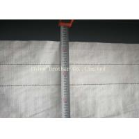 China White PP Woven Hay Bale Stack Covers 150gsm , Woven Polypropylene Hay Bale Fabric wholesale