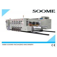 China 4 Colors Flexo Printer Slotter Die Cutter Rotary Water Based Printing With Glazer Dryer wholesale