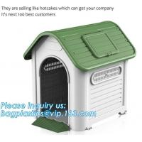 China Indoor &outdoor portable waterproof plastic dog house, large pet dog cage box kennel house , Manufacturer wholesale outd on sale