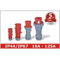 China 400V 3 Phase Pin and Sleeve Industrial Plug 16A 32A 63A 125A Industrial Socket wholesale
