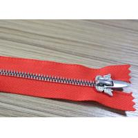 Quality H65 Brass Euro Teeth Metal Teeth Zipper 26 Inch Length Customized For Fr Clothing for sale