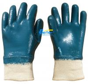 China Heavyduty Cotton Jersey Shell & Nitrile Coated Work Gloves-BGNC202 on sale