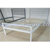 China Simple and Sturdy metal bed, color customzied and single size, easy to assemble on sale