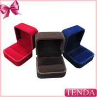 China Handcrafted Jewelry Thumb Opal Vintage Keepsake Promise Red Black Velvet Ring Boxes wholesale