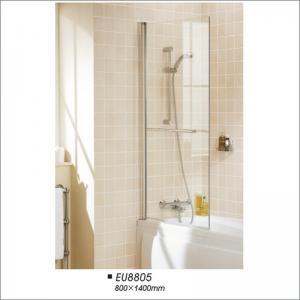 China Frameless Pivot Door Tub Screen , Glass Shower Bathtub Screen  800*1400 on sale