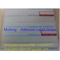 China 2 Colors Print Direct Thermal Label Roll Edge Distance 1.5mm Gap Distance 3mm wholesale