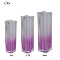China Purple Pump Cosmetic Plastic Bottles Recycled Plastic Spray Bottles Set wholesale