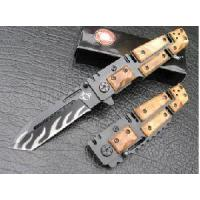 China Stainless steel color wood handle dual blade knife wholesale