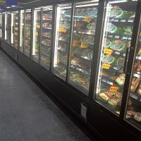 China 5 Layers Commercial Beverage Refrigerator Glass Door Upright Freezer For Retail Store on sale