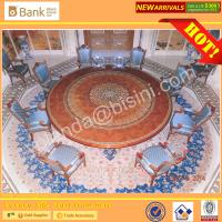 Buy cheap (BK0109-0015T)Luxury Mahogany Royal Palace 8-12 Elegant Blue Chairs Dining Room Furniture Antique Baroque Saudi Table Se from wholesalers