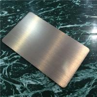 Buy cheap Light Weight Brushed Aluminum Composite Panel For Building Decoration 1220mm from wholesalers