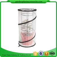 Metal Tomato Cages / Tomato Plant Stakes With Pop Up Grow Mesh Bag 18 in diameter x 38 H White and Black or as reques