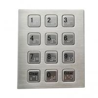 China RS232 3 x 4 smart vending machine keypad with Braille dots stainless steel material wholesale