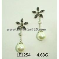 China wholesale silver pearls jewelry, pearls earrings pearls wedding jewelry wholesale