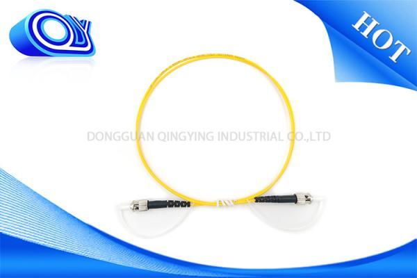 Quality Câble optique recto de la fibre OM3 de corde de correction de St de Sc de mode unitaire pour des LANs for sale