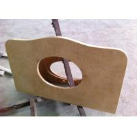 """Buy cheap Sunny Beige Marble Vanity Tops 22"""" Wide With Basin Hole , SGS CE Listed from wholesalers"""