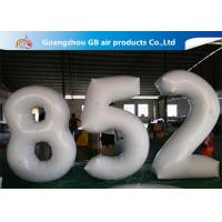 China European Standard White PVC Inflatable Advertising Number Display Figure Balloon on sale