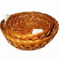 China Natural color oval-shaped fern bread baskets wholesale