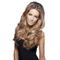 China real human hair clips on hair extension wholesale