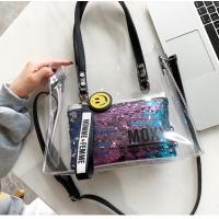 Buy cheap Hot Stamping 0.25MM PVC Handbags With Two Braid Hands from wholesalers