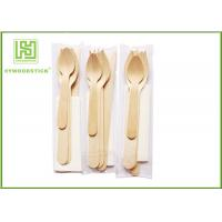 Colorful Eco Friendly Cutlery Compostable Tableware Wooden Forks And Spoons For Party