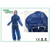 China Disposable Non woven long sleeve coveralls With Elastic Wrists and Ankles , Size custom wholesale