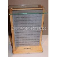 China Desktop Wooden Glass Retail Jewelry Display For Fashion Accessories / Earrings wholesale