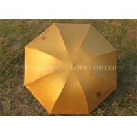 """Solid Color Gold Totes Windproof Folding Umbrella For Ladies 21"""" X 8k Size"""