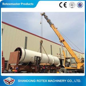 China 11 kw Sawdust Rotating Drum Dryer Machine 12 m Length 2.2 m Width wholesale
