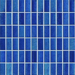 China Knives Glass Mirror Ceramic Mosaic Tiles , Interior Wall 23x48mm Mosaic Tiles wholesale