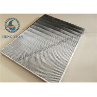 China Vee Wedge Wire Mesh Grids Panel , Stainless Steel Sieve Screen 0.7mm Slot Size wholesale