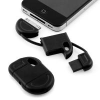 China Brand New Fun & Discreet Keyring USB Sync and Charge data cable for iPhone iPod iPad black wholesale