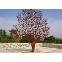Laser Cut Outdoor Metal Tree Sculpture Corrosion Stability Customized Size