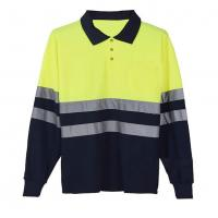 China Long sleeve Reflective Safety Hi Vis Polo Shirt OEM breathable quick dry work wear unisex heat sublimation printed wholesale