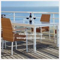 China Modern Fashion Style Outside Dining Table with Toughened Glass wholesale