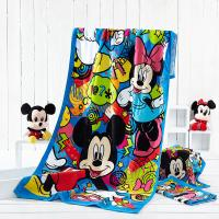 China Disney Approved Supplier Customize Minnie Design Reactive Printed Beach Towels wholesale