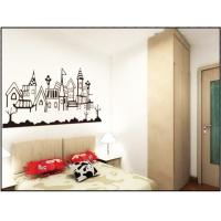 China Cream Coloured PVC Plastic Nature Wall Decals / Bedroom Wall Decals For Interior 0.9m x 2m wholesale