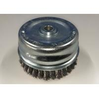 China Anti Rust 4 Inch Steel Cup Brush / Twist Knot Cup Brush M14*2.0 Nut Size With Bridle Ring wholesale