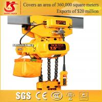 China Fast speed easy operation competitive price electric 1-25t chain hoist lifting block wholesale