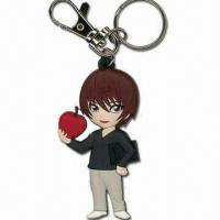 China Handsome Boy Shaped Keychain, Measures 6.5 x 3.7 x 0.5cm, Made of Soft PVC wholesale